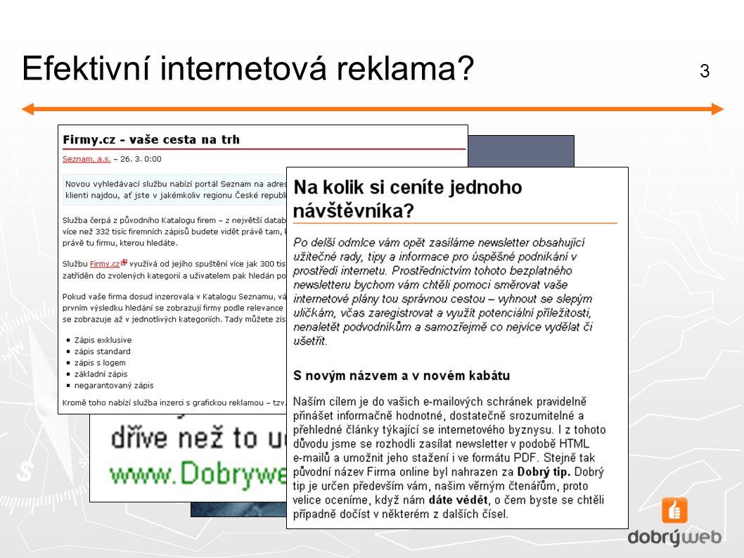3 Efektivní internetová reklama