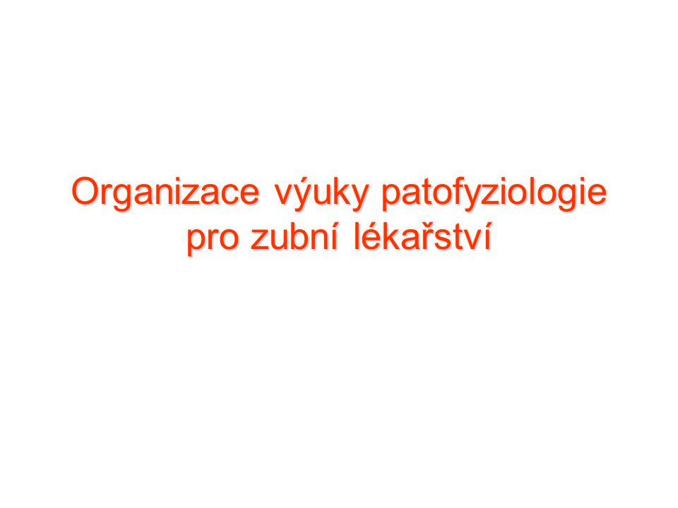 Organizace výuky patofyziologie pro zubní lékařství