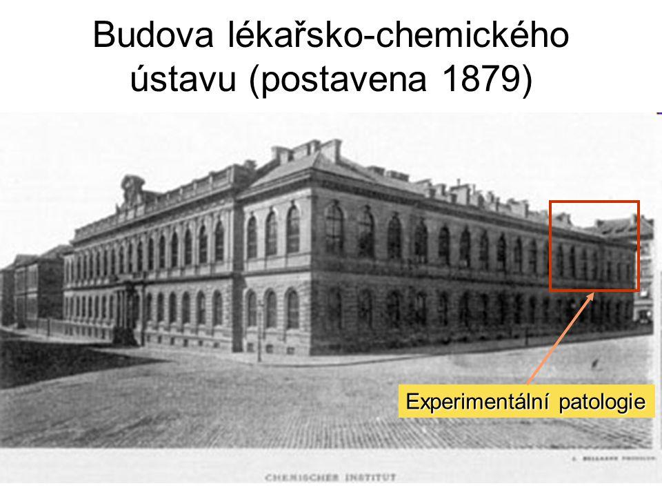 Budova lékařsko-chemického ústavu (postavena 1879) Experimentální patologie