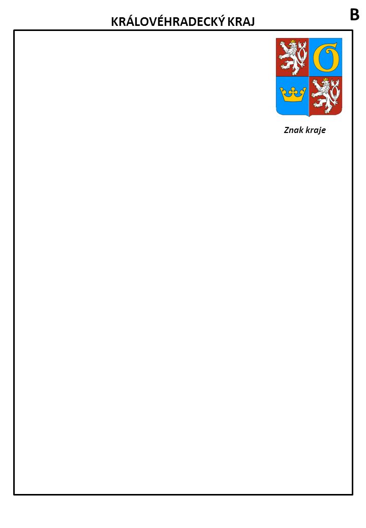 JIHOČESKÝ KRAJ Znak kraje Zakreslete do mapy tato města: České Budějovice, Český Krumlov, Jindřichův Hradec, Strakonice, Písek, Tábor, Prachatice Spolupracuj se spolužáky, kteří pracují na sousedních krajích, v zakreslení následujících řek a pohoří: (Nejprve se přesvědčte, zda řeka či pohoří vaším krajem protéká, nebo zda v něm leží).