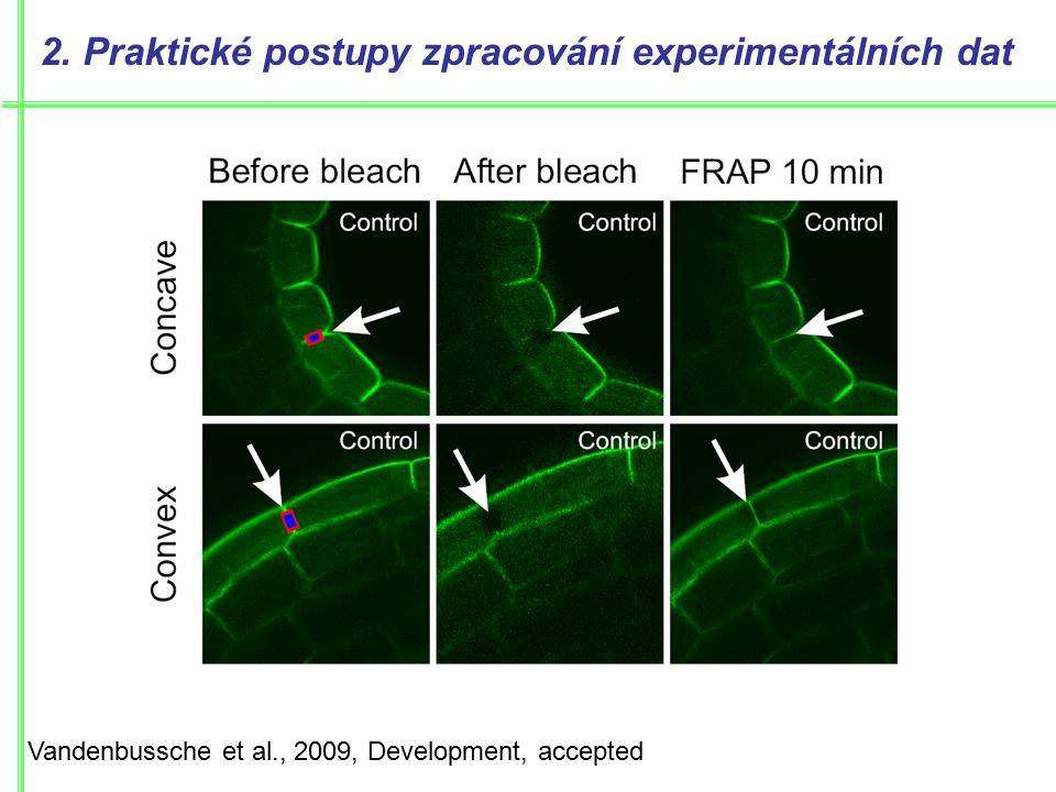 Vandenbussche et al., 2009, Development, accepted 2.