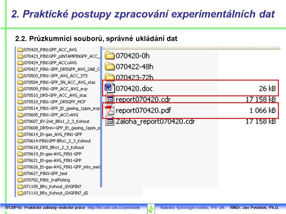 Irfan View / ideální nástroj na běžné prohlížení obrázků B130P16: Praktické základy vědecké práce http:/lhr.ueb.cas.cz/petrasek Katedra fyziologie rostlin, PřF UK RNDr.
