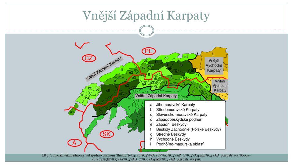 Vnější Západní Karpaty http://upload.wikimedia.org/wikipedia/commons/thumb/b/b4/Vn%C4%9Bj%C5%A1%C3%AD_Z%C3%A1padn%C3%AD_Karpaty.svg/800px- Vn%C4%9Bj%C