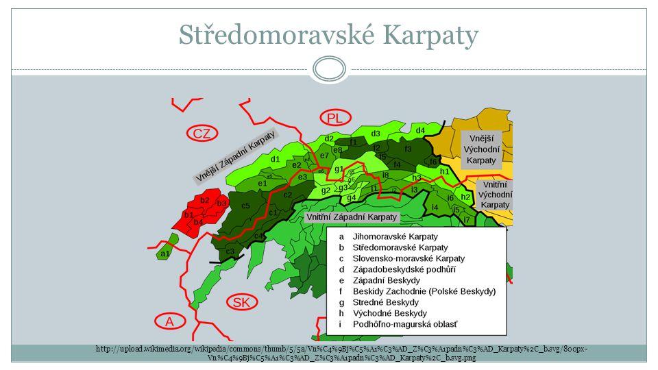Středomoravské Karpaty http://upload.wikimedia.org/wikipedia/commons/thumb/5/5a/Vn%C4%9Bj%C5%A1%C3%AD_Z%C3%A1padn%C3%AD_Karpaty%2C_b.svg/800px- Vn%C4%
