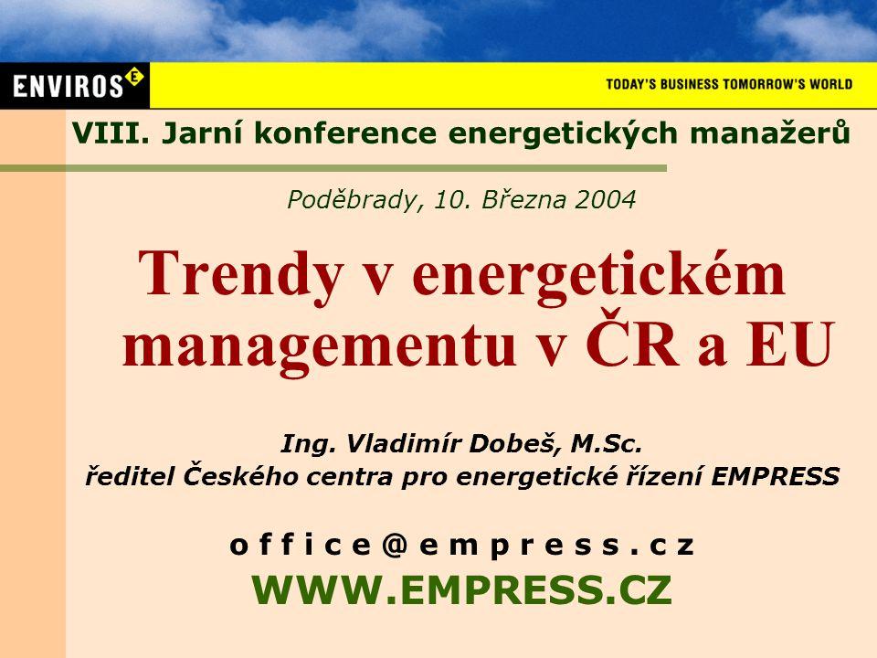 VIII.Jarní konference energetických manažerů Poděbrady, 10.