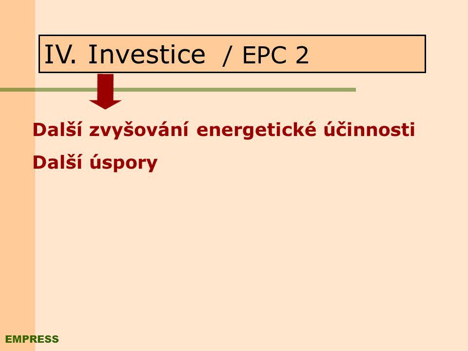 III. Zavedení M&T / EPC 1 Neinvestiční opatření vedoucí ke zvyšování energetické účinnosti: - Úspory provozních nákladů - Optimalizace případných inve