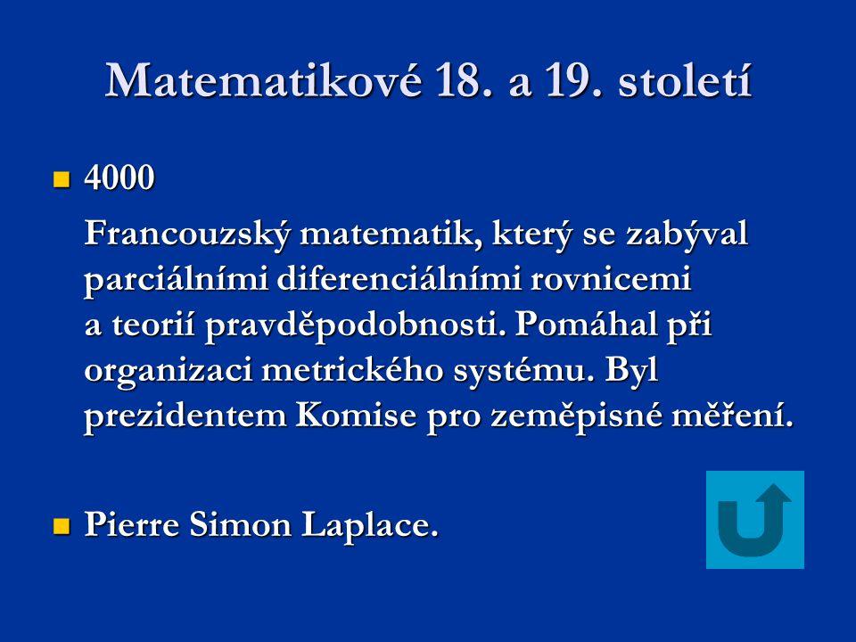 Matematikové 18.a 19.