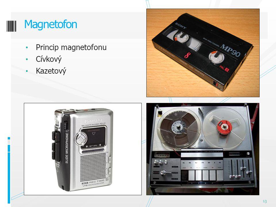 Princip magnetofonu Cívkový Kazetový Magnetofon 13