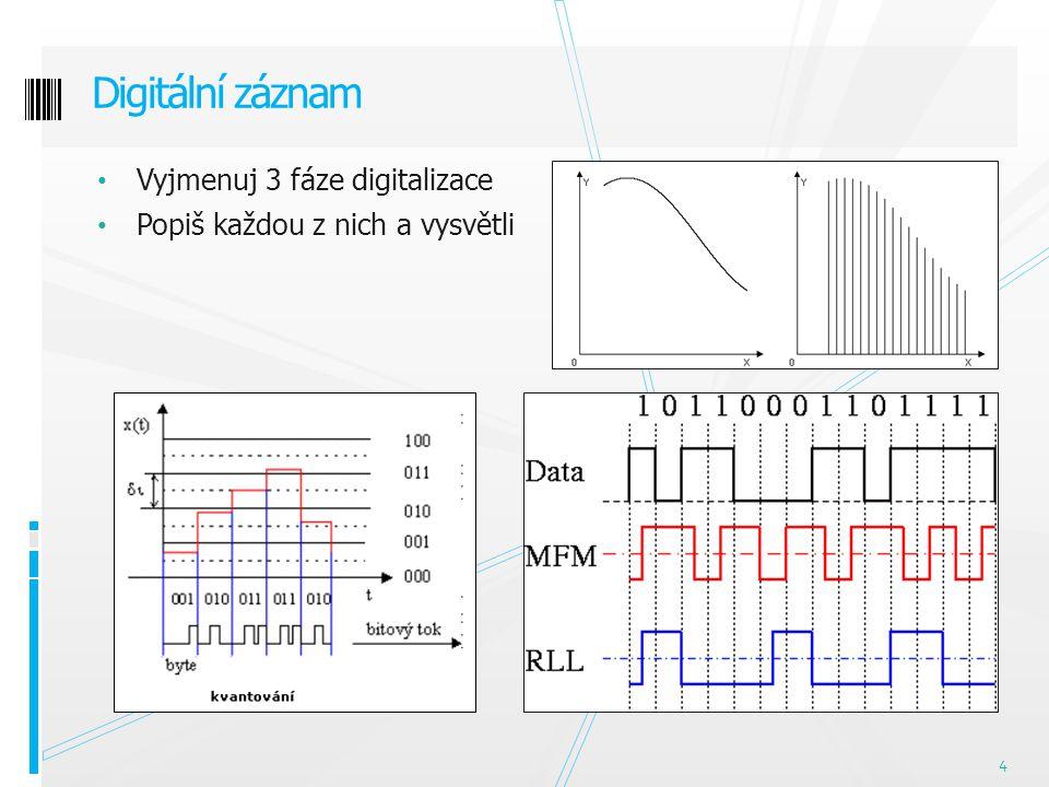 Vysvětli pojem Příklad záznamu Typy přenosek Mechanický záznam 5