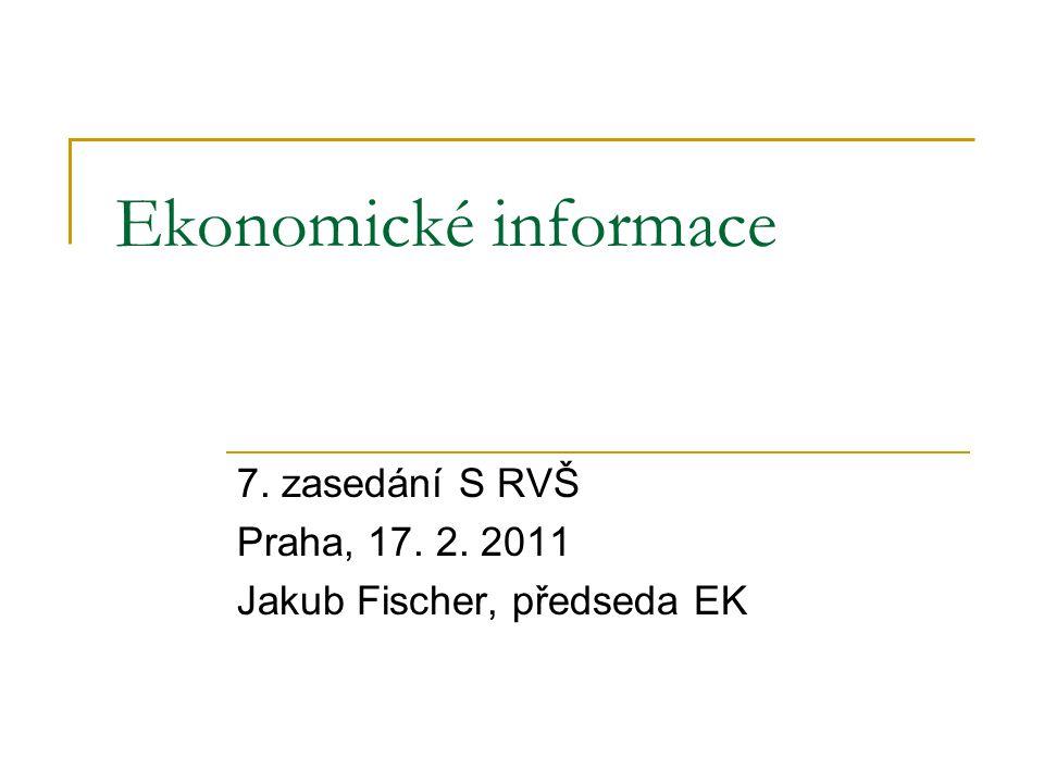 Ekonomické informace 7. zasedání S RVŠ Praha, 17. 2. 2011 Jakub Fischer, předseda EK