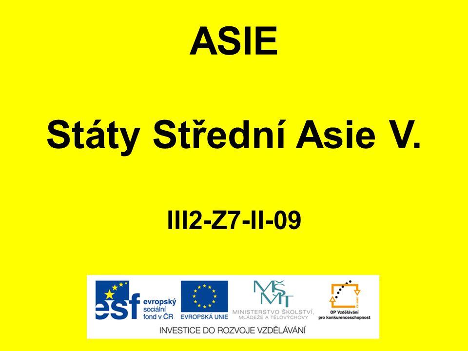 ASIE Státy Střední Asie V. III2-Z7-II-09