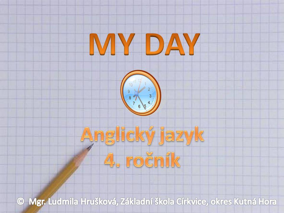 AnotaceVypracovává úkoly na téma Můj den na IA tabuli AutorMgr.