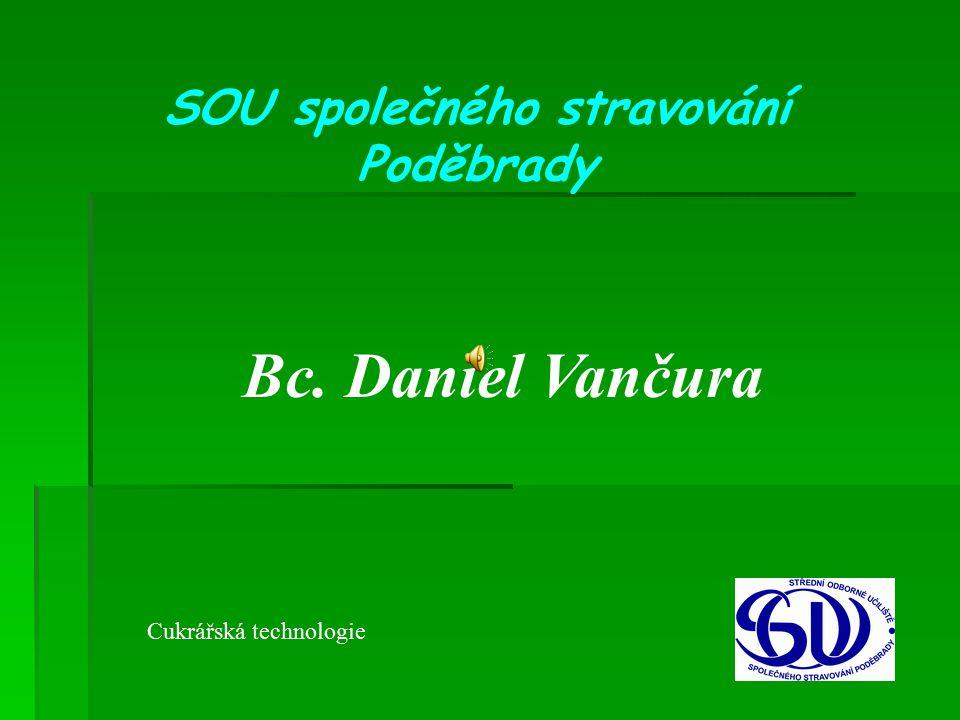 SOU společného stravování Poděbrady Bc. Daniel Vančura Cukrářská technologie