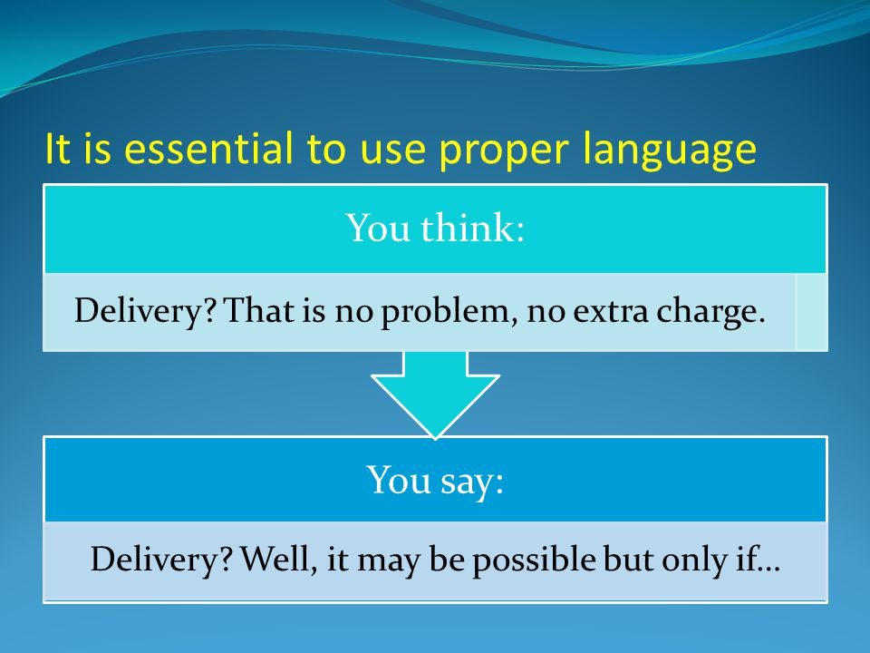 It is essential to use proper language You say: Delivery.