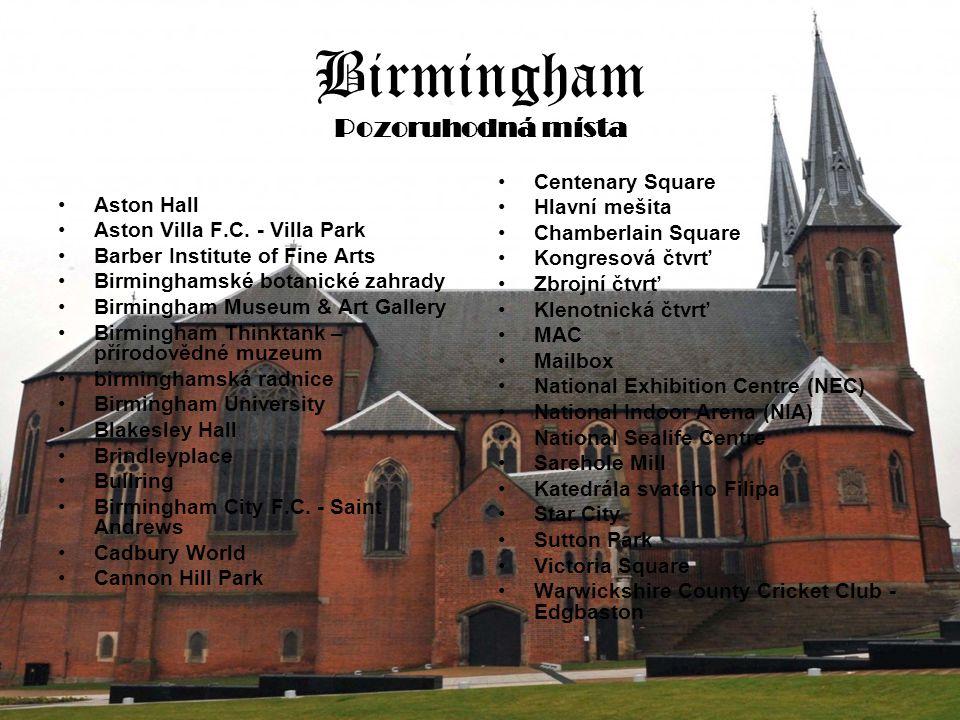 Birmingham Pozoruhodná místa Aston Hall Aston Villa F.C.