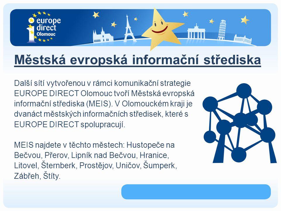 Den Evropy žáci ZŠ a SŠ Olomouckého kraje představují členské státy EU prostřednictvím stánků a prezentace na pódiu Možnost blíže se seznámit s kulturou a zvyky, tradičními pokrmy a zajímavostmi států Unie Partnery akce jsou UNITED GAMES OF NATIONS, Dům dětí a mládeže Olomouc