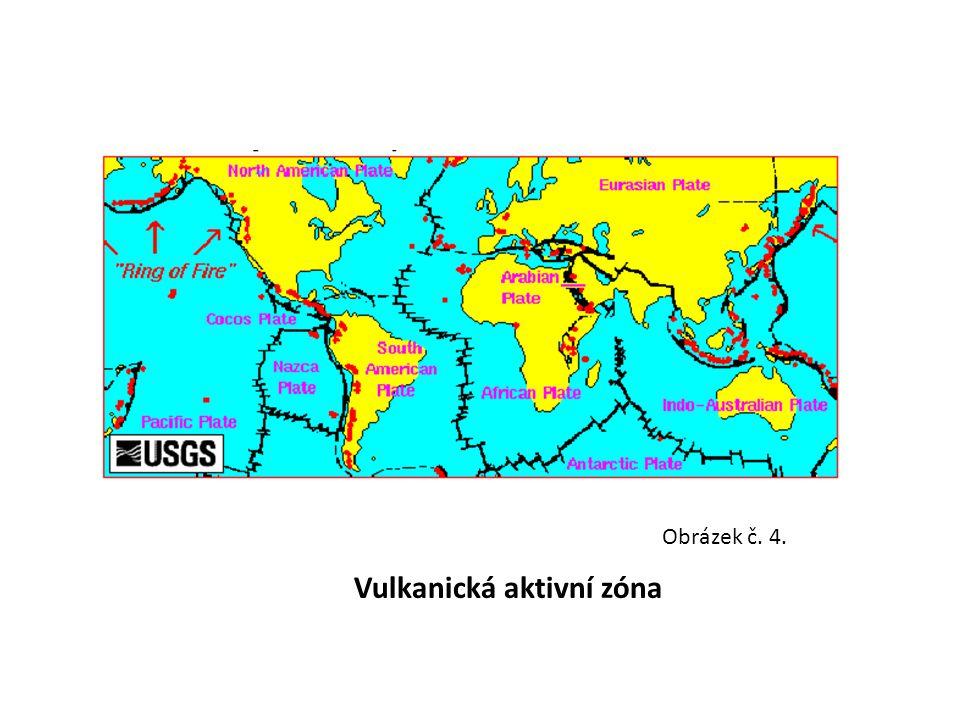 konvergentní rozhraní litosférických desek - subdukční zóny (místa podsouvání jedné litosférické desky pod druhou - vznikají tlakem nové zemské kůry na starou) Obrázek č.