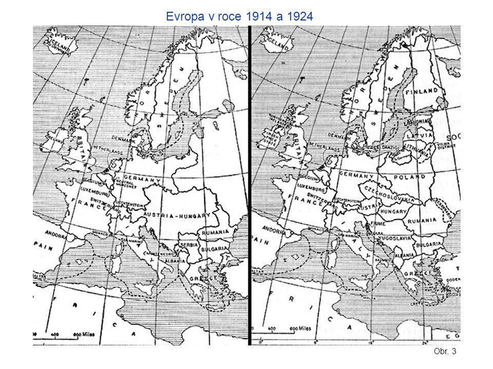 Evropa v roce 1914 a 1924 Obr. 3