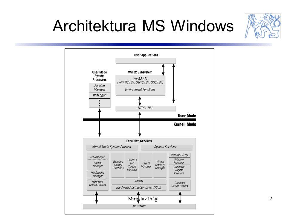 Služby (services) a zařízení (devices) 13 Konfigurace v Registry: HKEY_LOCAL_MACHINE\SYSTEM\CurrentControlSet\Services 13Miroslav Prágl