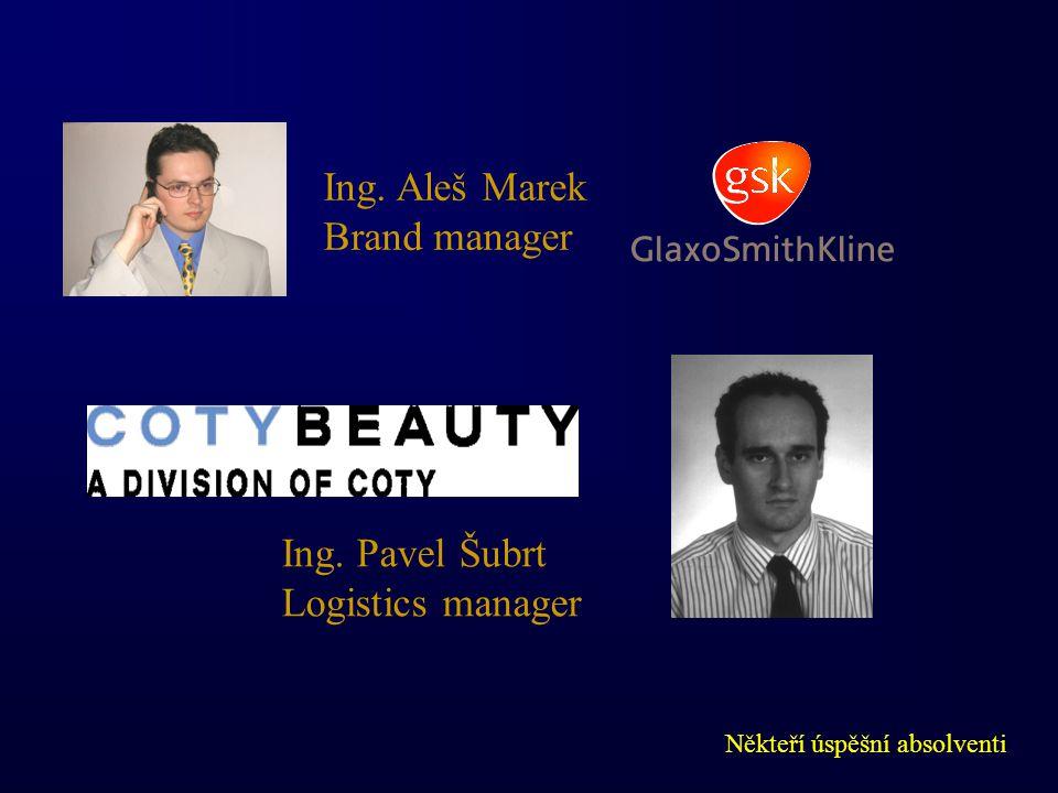 Někteří úspěšní absolventi Ing. Aleš Marek Brand manager Ing. Pavel Šubrt Logistics manager