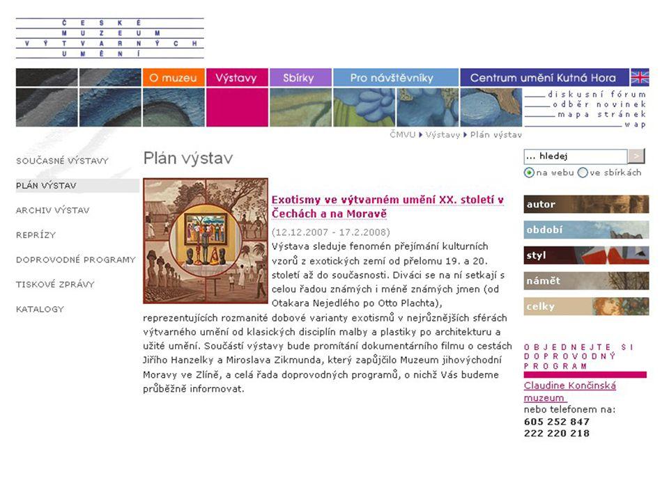 Sbírky online v novém webu