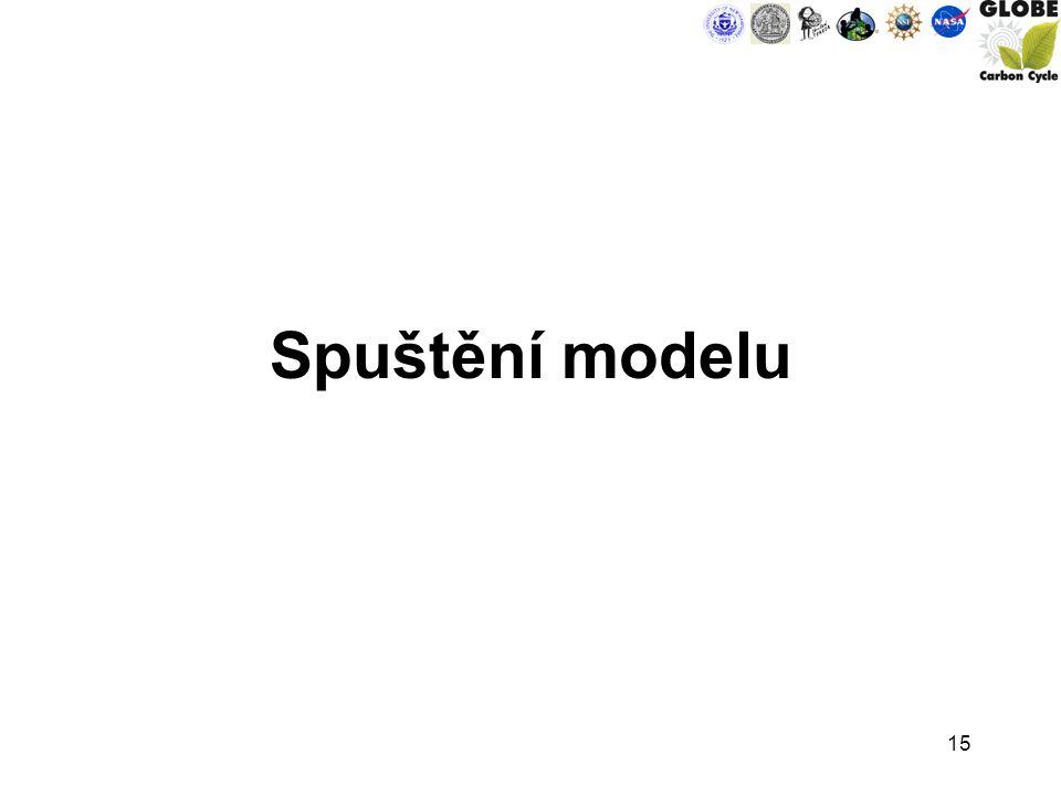 15 Spuštění modelu
