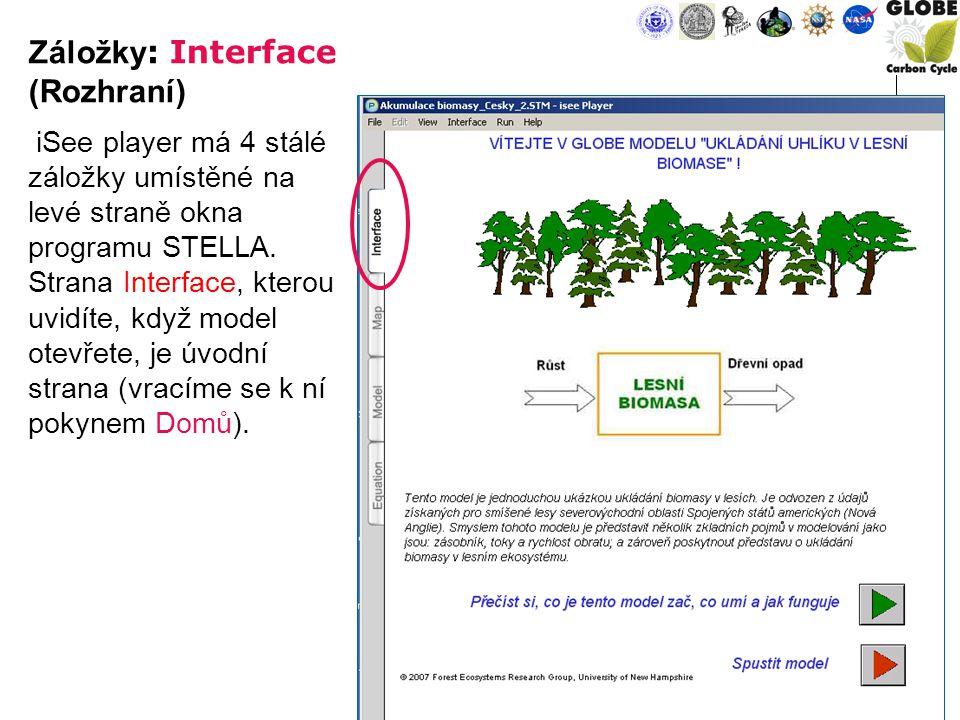 7 iSee player má 4 stálé záložky umístěné na levé straně okna programu STELLA.