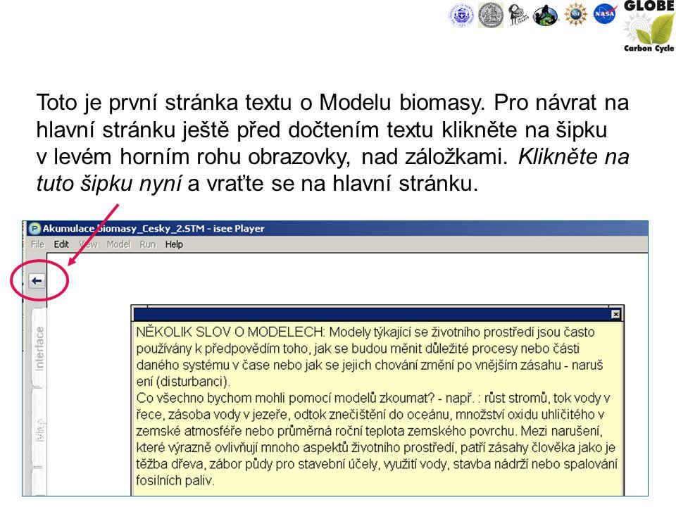 9 Toto je první stránka textu o Modelu biomasy.