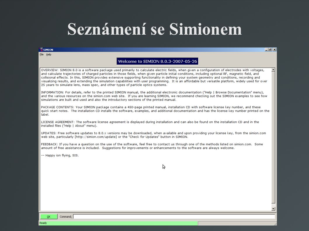 Seznámení se Simionem