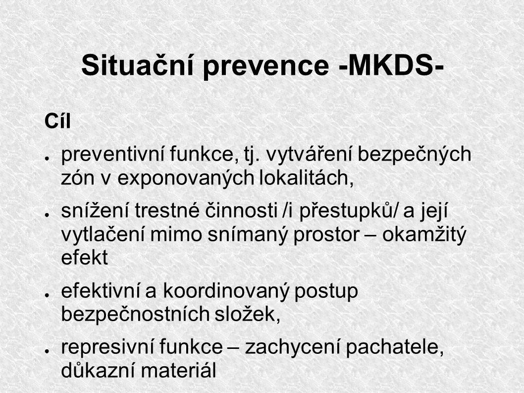 Situační prevence -MKDS- Cíl ● preventivní funkce, tj.