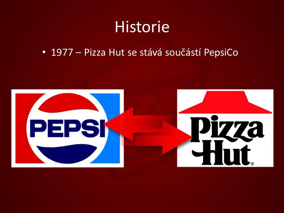 Historie 1977 – Pizza Hut se stává součástí PepsiCo