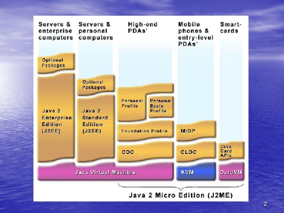 13 Vývojové prostředí NetBeans IDE + Mobility Pack Odkaz ke stažení: http://www.netbeans.org/products Mobility Pack je ve dvou verzích, pro konfiguraci CLDC nebo CDC Obsahuje Visual Mobile Designer Součástí je Wireless Toolkit Umožňuje využívat emulátor konkrétního zařízení Vývoj probíhá ve třech režimech: Source Screen Design Flow Design