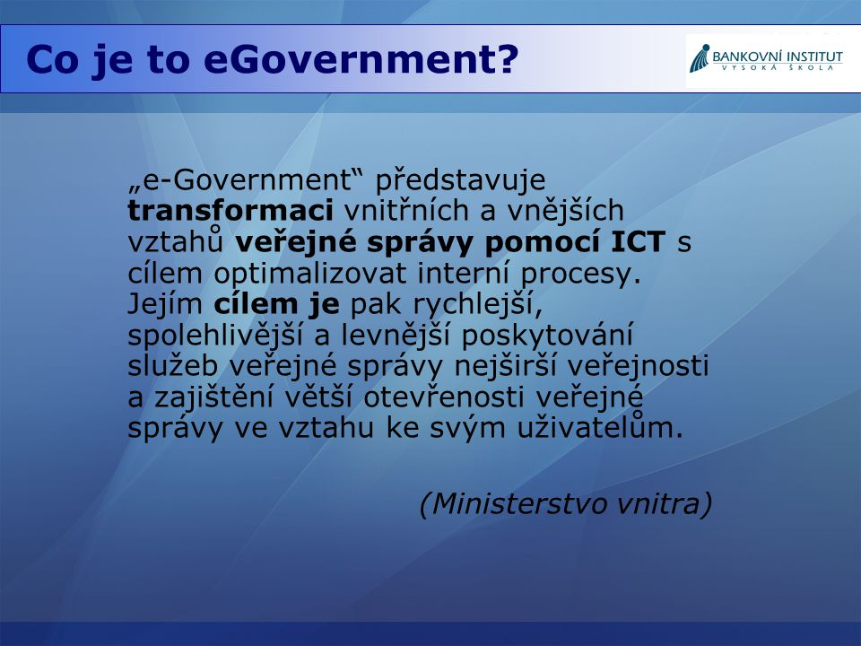 Co je to eGovernment.