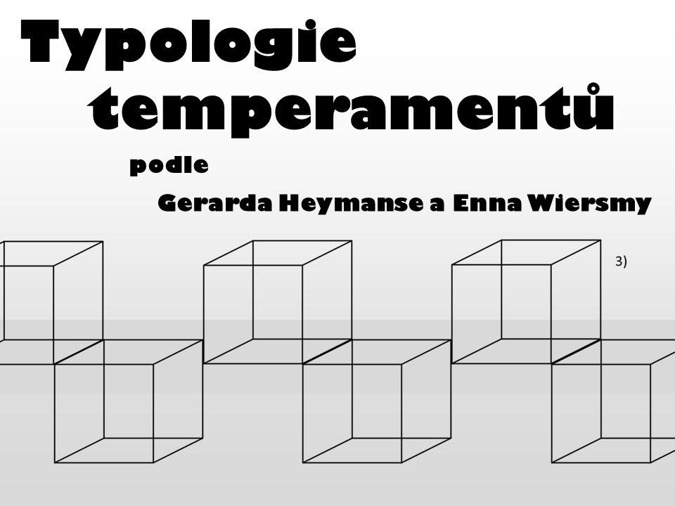 Typologie temperamentů podle Gerarda Heymanse a Enna Wiersmy