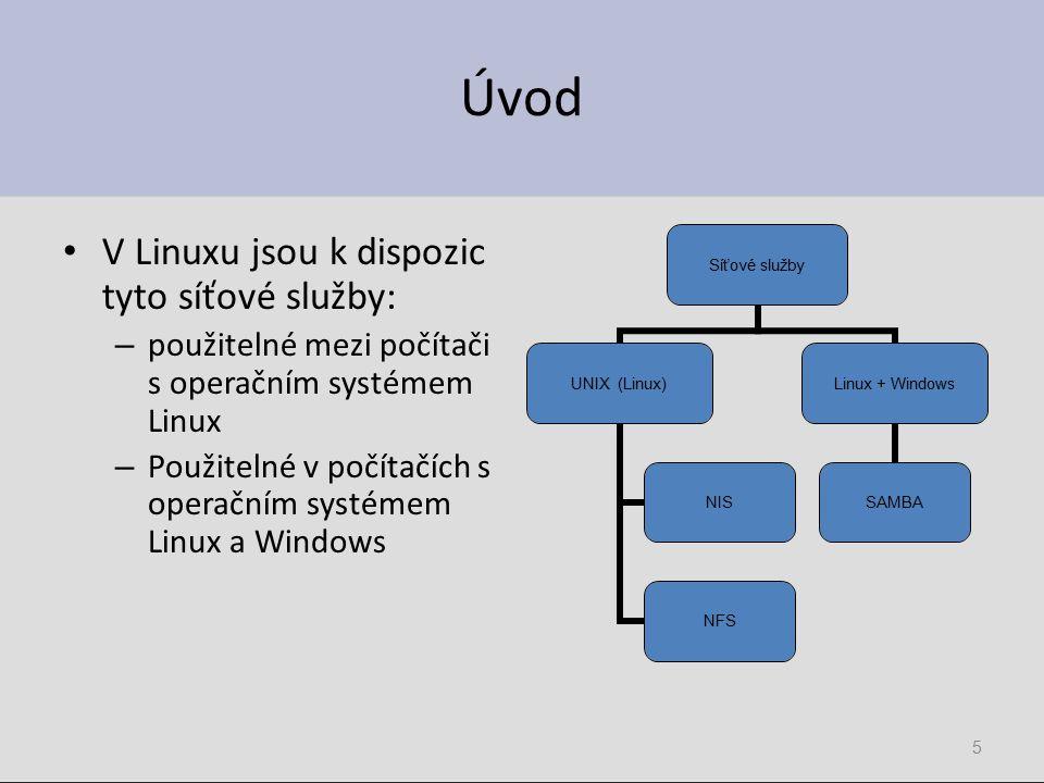 16 Definice sdílení Je mnoho způsobů: – Swat – Samba server – Vlastnosti složky – Příkaz su a následně kcmshell fileshare
