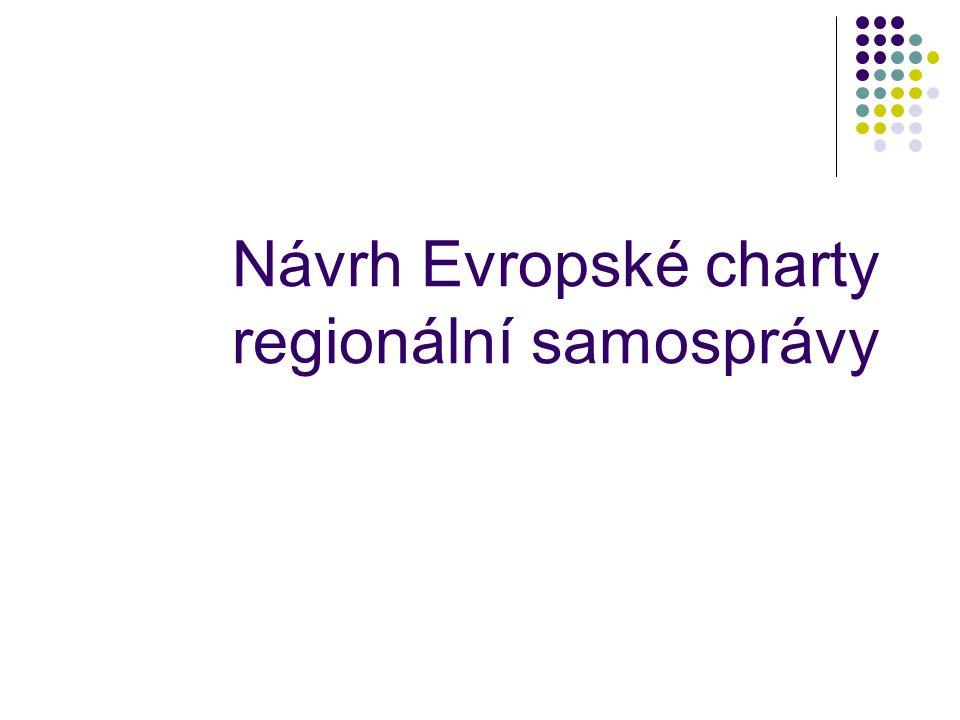 Návrh Evropské charty regionální samosprávy