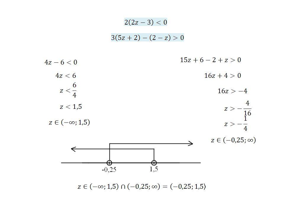 Řešte soustavu nerovnic v množině reálných čísel: