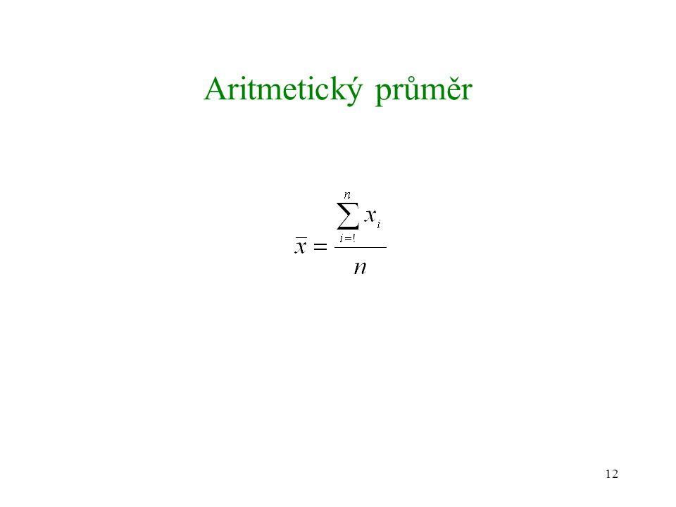 12 Aritmetický průměr