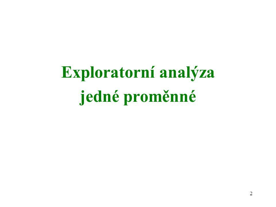 2 Exploratorní analýza jedné proměnné