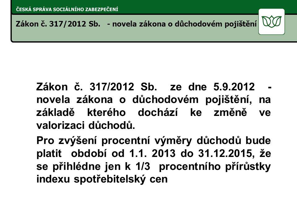 Zákon č. 317/2012 Sb.