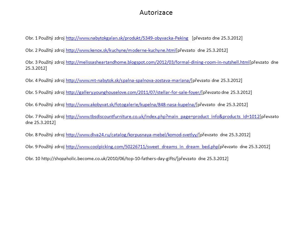 Autorizace Obr. 1 Použitý zdroj http://www.nabytokgalan.sk/produkt/5349-obyvacka-Peking [převzato dne 25.3.2012]http://www.nabytokgalan.sk/produkt/534