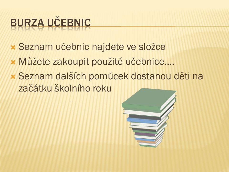  Seznam učebnic najdete ve složce  Můžete zakoupit použité učebnice….