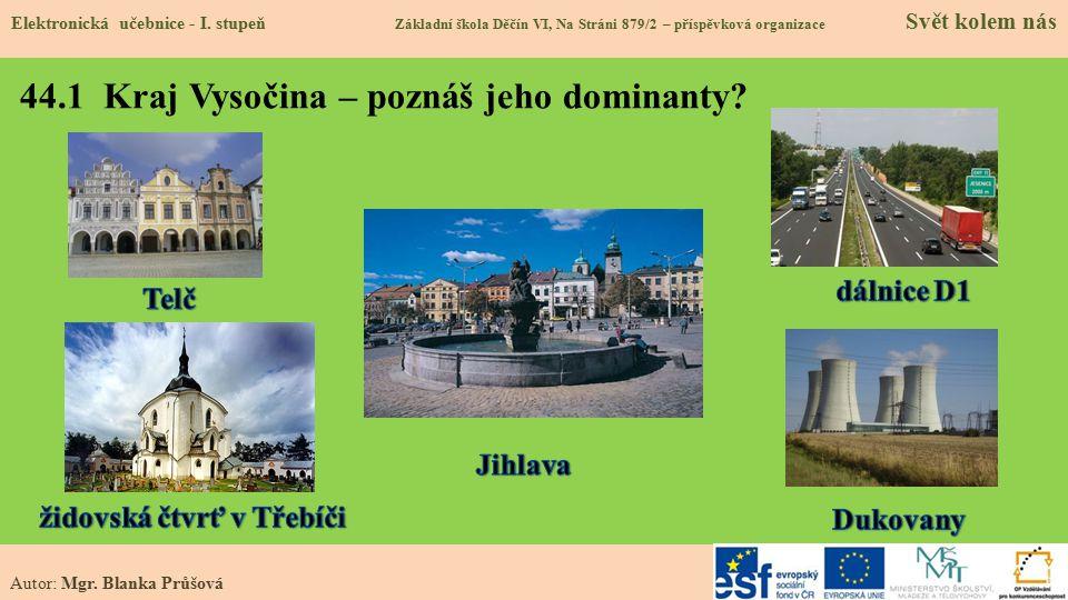 44.2 Poloha v republice Elektronická učebnice - I.
