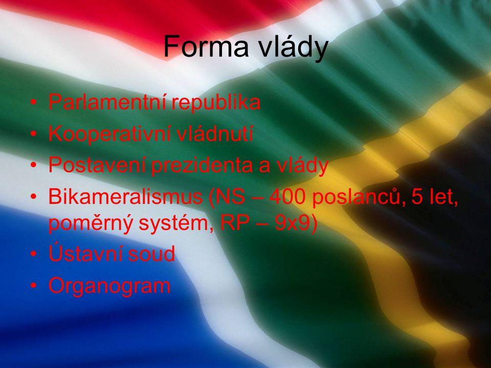 Vláda Parlament Národní shromážděn í Národní rada provincií Ministři Prezident Lid Parlamenty provincií Organogram – Jižní Afrika