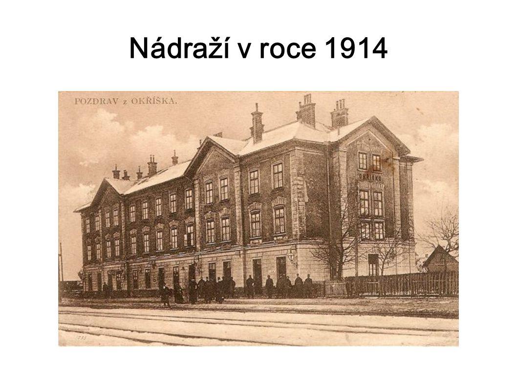 Nádraží v roce 1914