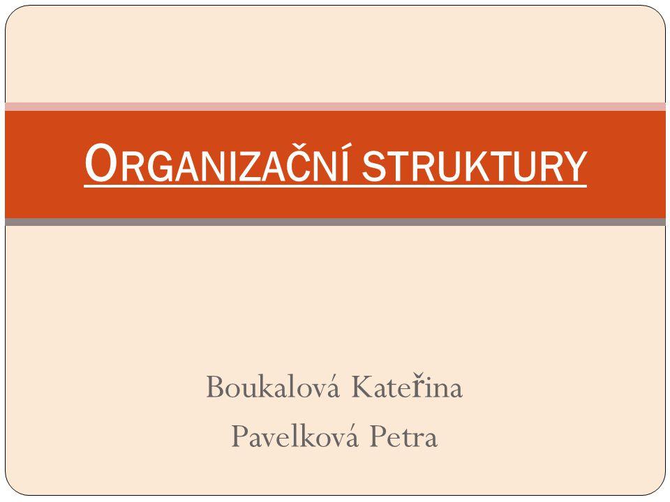 Boukalová Kate ř ina Pavelková Petra O RGANIZAČNÍ STRUKTURY