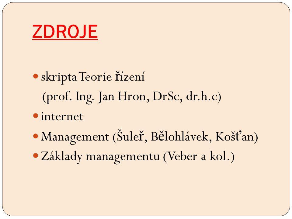 ZDROJE skripta Teorie ř ízení (prof. Ing.