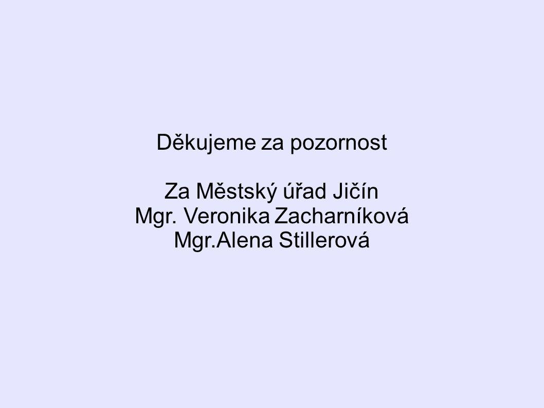 Děkujeme za pozornost Za Městský úřad Jičín Mgr. Veronika Zacharníková Mgr.Alena Stillerová