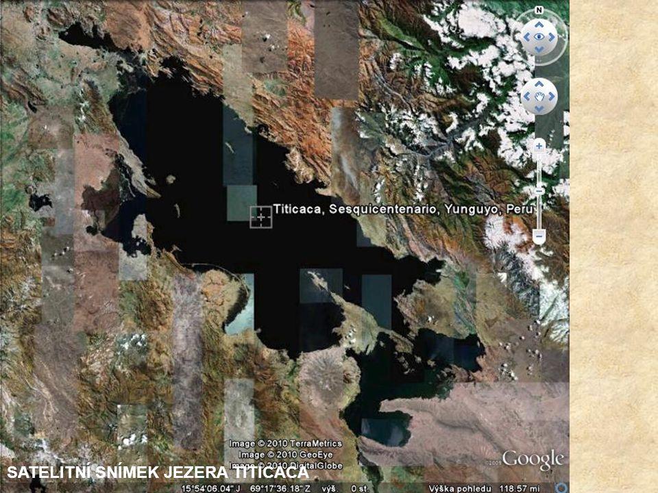 NEJVĚTŠÍ JEZERO JIŽNÍ AMERIKY LEŽÍ NA ÚZEMÍ PERU A BOLÍVIE V NADMOŘSKÉ VÝŠCE 3.809 m. JE DLOUHÉ 160 km A ŠIROKÉ 65 km, MAX. HLOUBKA JE 304 m. NA PERUÁ
