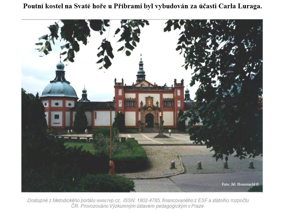Poutní kostel na Svaté hoře u Příbrami byl vybudován za účasti Carla Luraga. Dostupné z Metodického portálu www.rvp.cz, ISSN: 1802-4785, financovaného